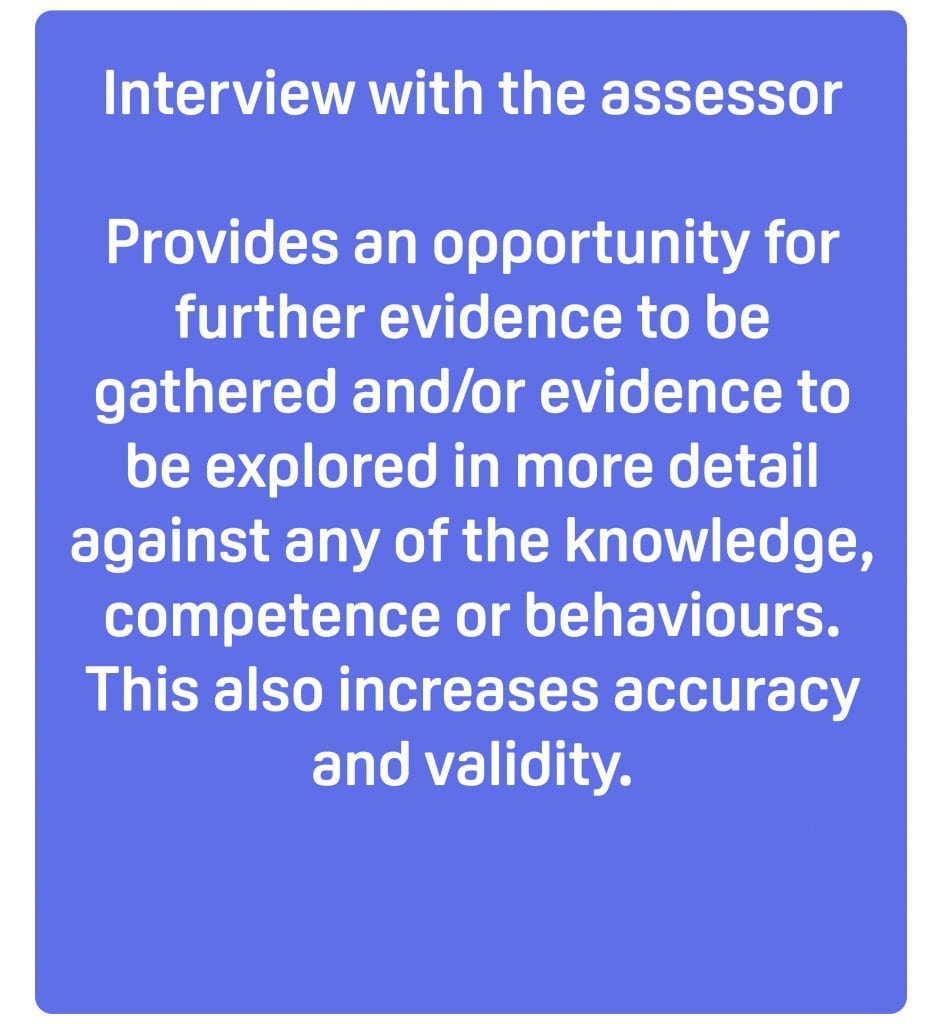 interview with end point assessor